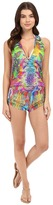 Luli Fama Barefoot & Free T-Back Romper Cover-Up