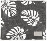 Dolce & Gabbana leaf print cardholder - men - Calf Leather - One Size