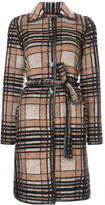 Missoni checked belted coat