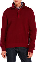 English Laundry Mock Neck Quarter-Zip Sweater