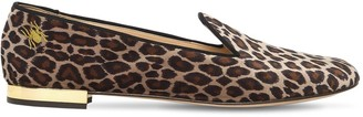 Charlotte Olympia 10mm Nocturna Leopard Velvet Loafers