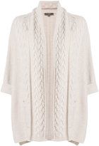 N.Peal scarf wrap cable cardigan