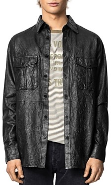 Zadig & Voltaire Crinkle Leather Shirt