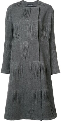 Narciso Rodriguez textured check coat