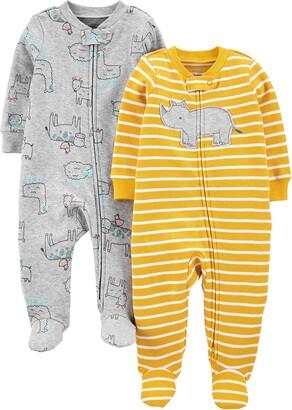 Simple Joys by Carter's Baby Boys 2-Pack Fleece Footed Sleep and Play