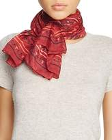 MCM Bandana Print Wool Scarf