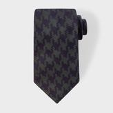Paul Smith Men's Navy And Khaki Dogtooth Silk Tie