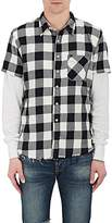 NSF Men's Buffalo-Checked Cotton Combo Shirt