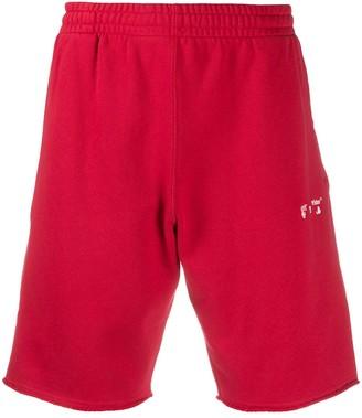 Off-White Diagonals cotton track shorts