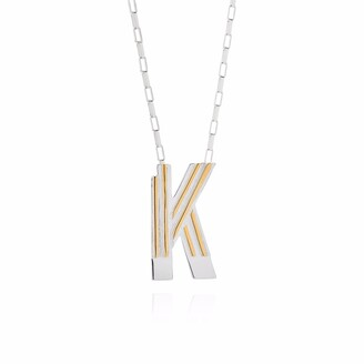 Yasmin Everley Jewellery Saxony K Initial Necklace