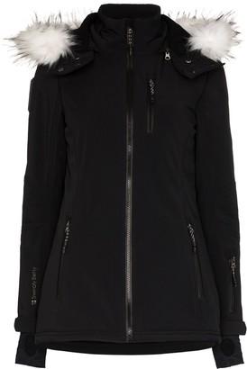 Sweaty Betty Exploration faux fur-trimmed softshell ski jacket