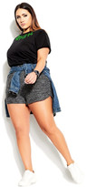 City Chic Soft Touch Short - charcoal