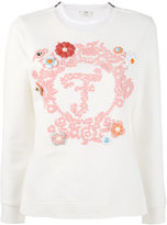 Fendi - long-sleeved embroidered