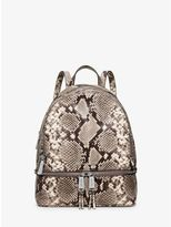 Michael Kors Rhea Small Embossed-Leather Backpack