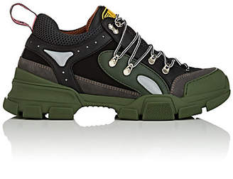 Gucci Men's Flashtrek Leather & Canvas Sneakers - Green