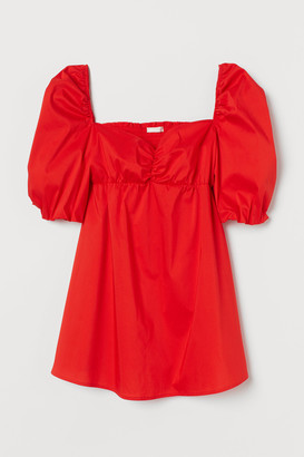 H&M MAMA Puff-sleeved Blouse
