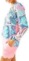 Lilly Pulitzer Elsa Top Tile-Wave