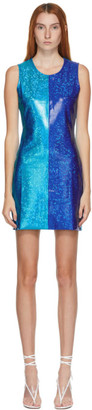 Saks Potts SSENSE Exclusive Blue Shimmer Vision Dress