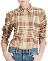 Polo Ralph Lauren Relaxed-Fit Plaid Cotton Twill Button-Down Shirt