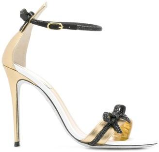 Rene Caovilla bow strap sandals