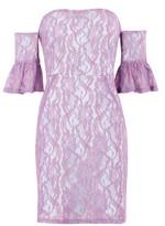 Topshop Lace Flute Sleeve Bardot Dress