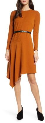 Sam Edelman Belted Long Sleeve Sweater Dress