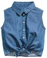 H&M Sleeveless Tie-front Blouse