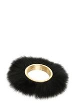 Viktor & Rolf Viktor&rolf - Fox Fur On Brass Metal Cuff