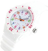 Boys Girls Colorful Analog Resin Waterproof Strap Sport Watches White