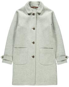 Tinsels - Light Grey Laken Wool Coat - M - Grey