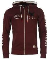 Soul Cal SoulCal Mens Union Hoody Full Zip Hoodie Long Sleeve Hooded Casual Top