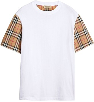 Burberry oversized check-sleeve T-shirt