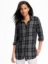 Old Navy Classic Plaid Soft Shirt for Women