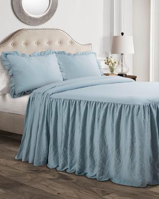 Lush Decor Ruffle Skirt Bedspread 3Pc Set