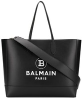 Balmain open-top logo tote bag