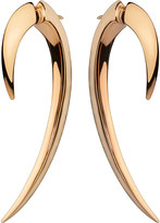 Shaun Leane Silver and rose gold-plate hook earrings size 1