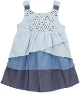 KensieGirl Blue Ombré A-Line Dress - Toddler & Girls