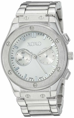 XOXO Women's Stainless Steel Quartz Watch with Alloy Strap