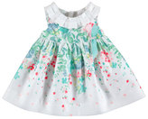 Mayoral Sleeveless Smocked Floral Poplin Dress, Blue/White, Size 6-36 Months
