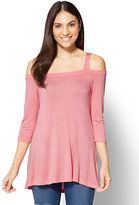 New York & Co. Soho Soft Tee - Cold-Shoulder Tunic Top