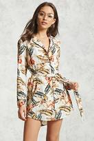Forever 21 FOREVER 21+ Satin Printed Shirt Dress