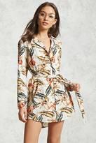 Forever 21 FOREVER 21+ Satin Printed Shirt Dress