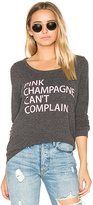 Chaser Pink Champagne Pullover in Charcoal. - size S (also in XS)