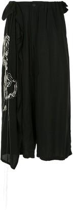 Yohji Yamamoto Embroidered Wide Leg Trousers
