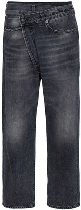 R 13 Leyton crossover-front jeans