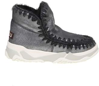 Mou Sneakers Eskimo Trainer In Anthracite Wool