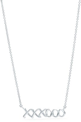 Tiffany & Co. Paloma's Graffiti love & kisses pendant in sterling silver, small