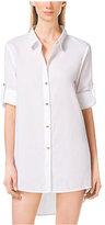 Michael Kors Asymmetric Button-Up Shirtdress