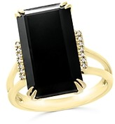 Bloomingdale's Black Onyx and Diamond Statement Ring in 14K Yellow Gold - 100% Exclusive