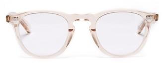 Garrett Leight Hampton Round Acetate Glasses - Nude